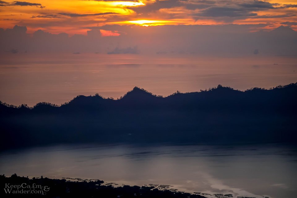 sunset Mount Batur bali