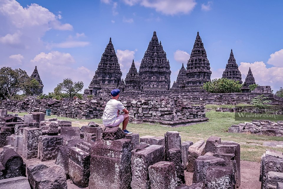 Ruins of temple Prambanan Yogyakarta Indonesia
