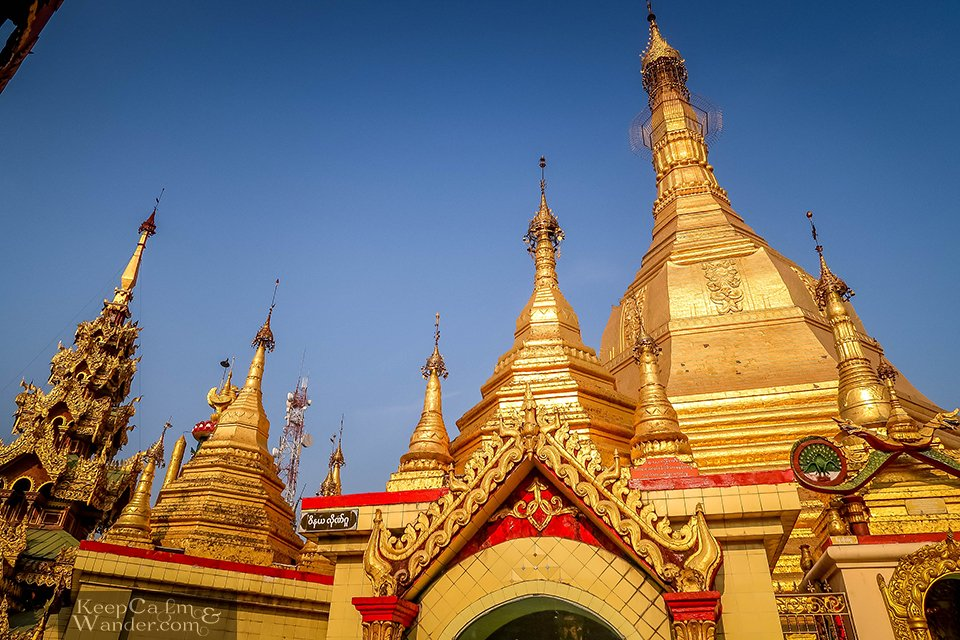 Sule Pagoda - Serenity Amidst the Traffic in Yangon (Myanmar).