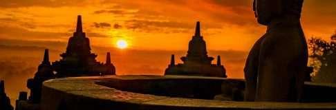 Sunrise in Borobudur Yogyakarta Indonesia Java 10