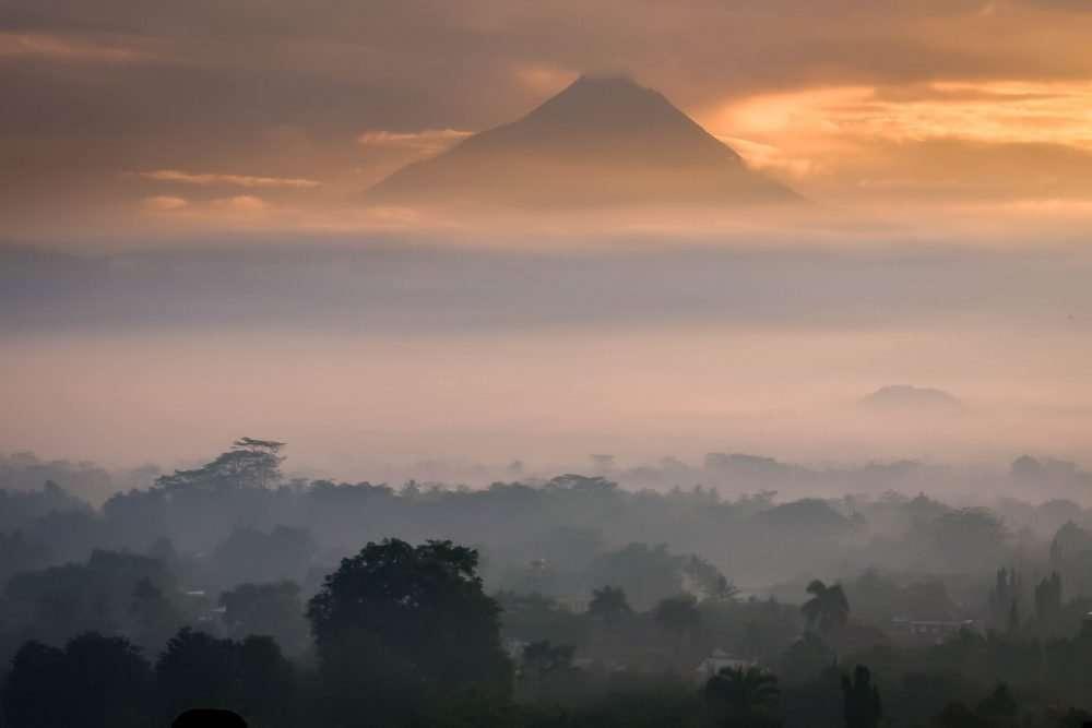 Indonesia nature Mountain sunrise Yogyakarta