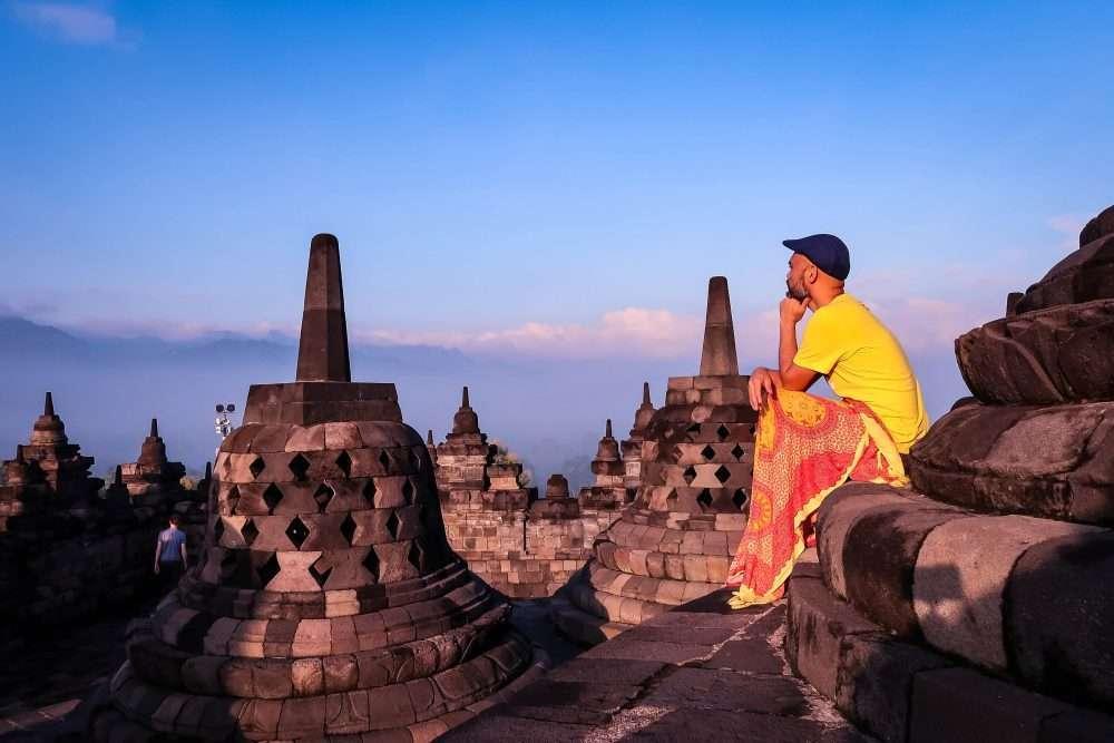 Borobudur Sunrise -  Buddha Statue