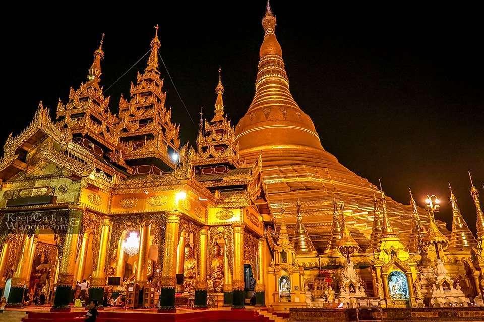 Morning Shwedagon Temple Buddha