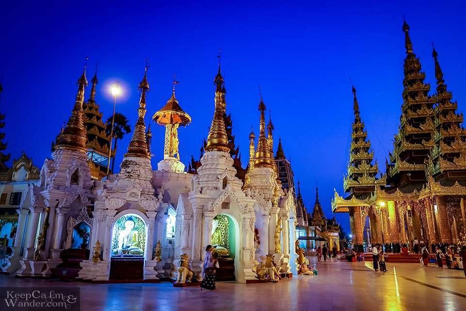 White pagoda inside Dagon