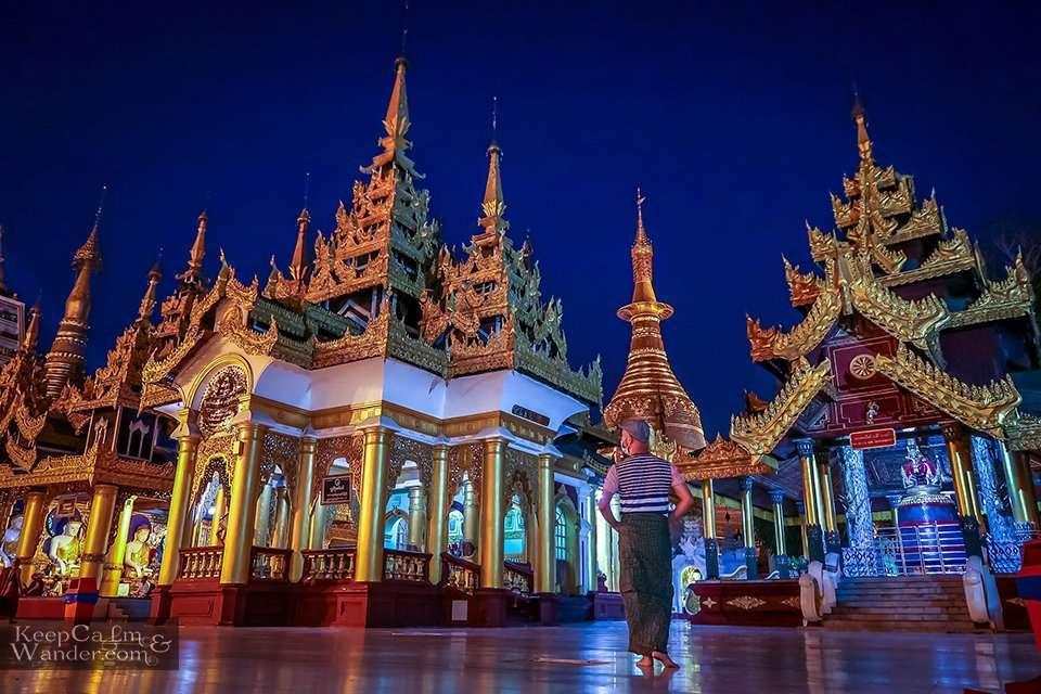 Dagon Pagoda Temple Yangon Myanmar