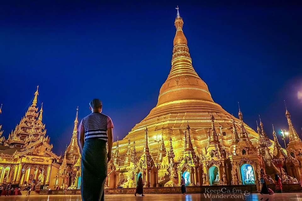 Shwedagon Pagoda in Yangon Myanmar Morning