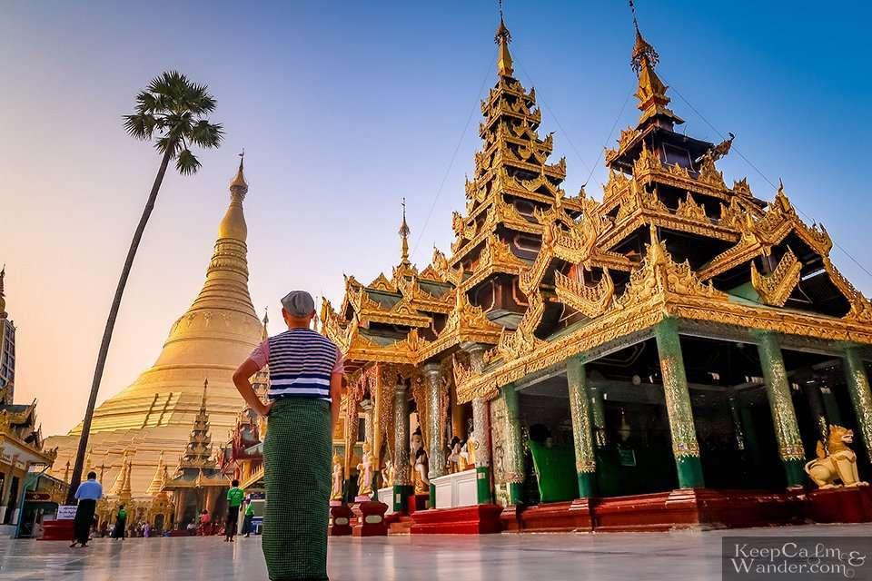 Shwedagon stupa gold diamonds