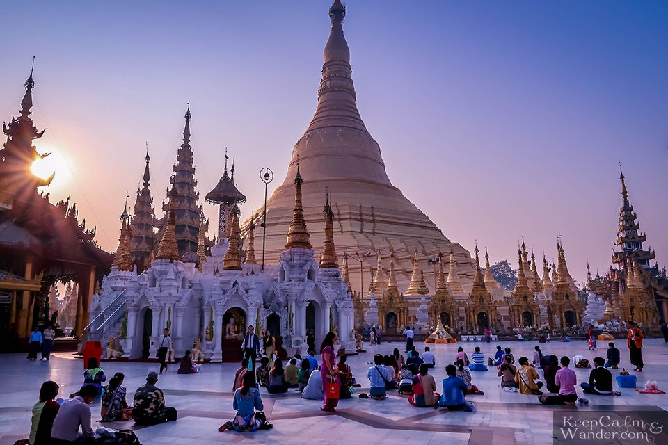 Shwedagon Pagoda in Yangon is Pure Bliss in the Morning