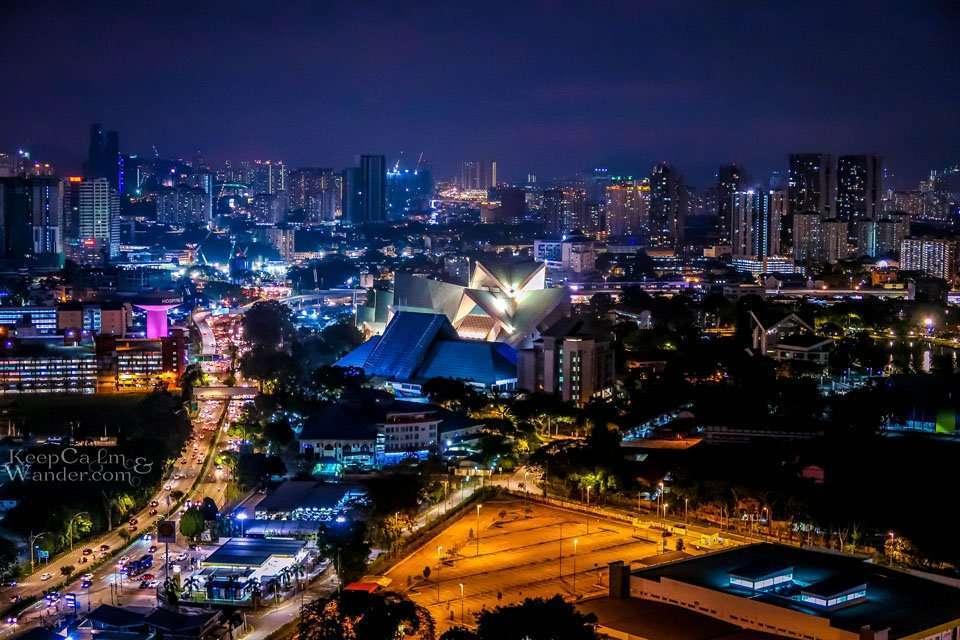 View of Kuala Lumpur at night.