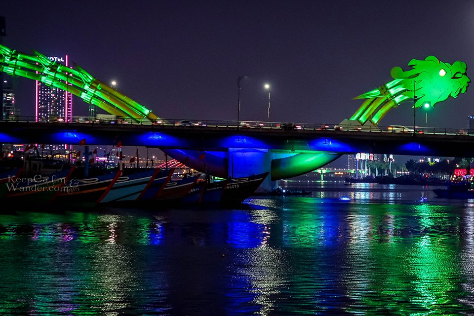 This Dragon Bridge in Danang Breathes Fire and Water