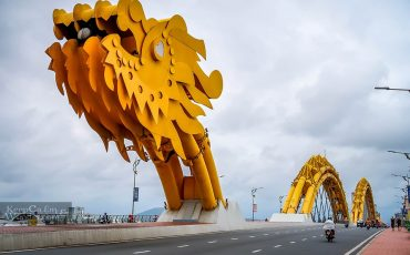 Danang Skyline Dragon Bridge Vietnam 5