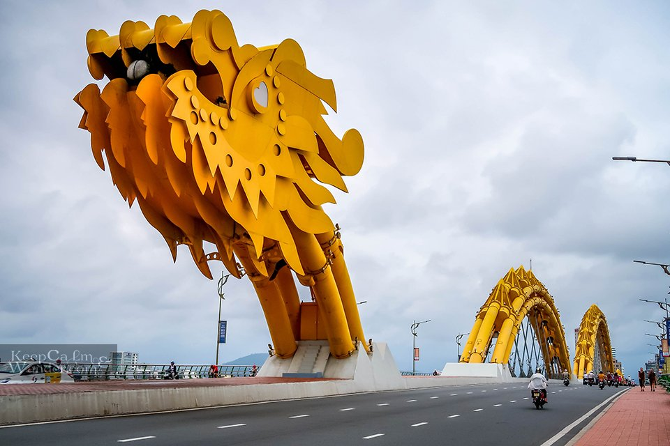 This Dragon Bridge in Danang Breathes Fire and Water Vietnam