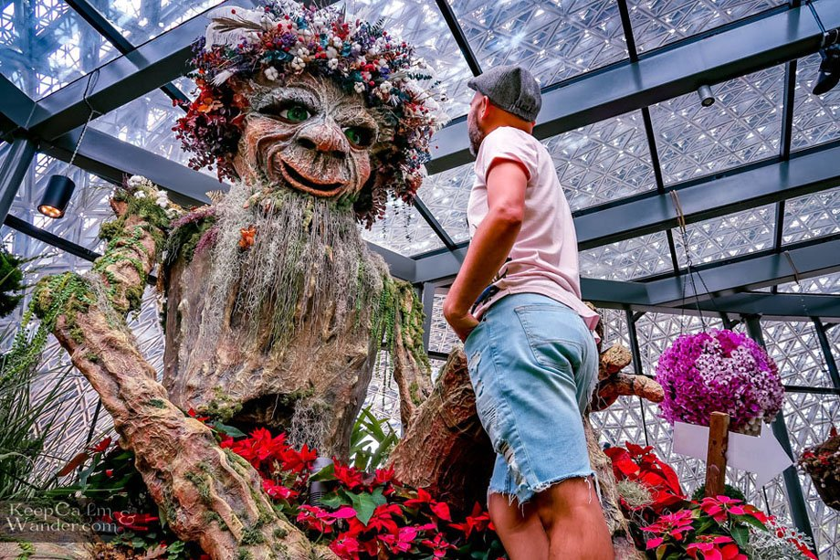 Inside the Floral Fantasy at Gardens by the Bay Singapore Things to do