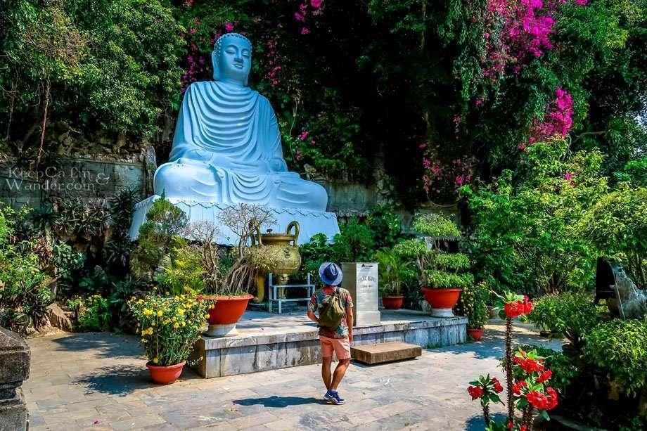 Buddha Statue Marble Mountain Tourist Attraction