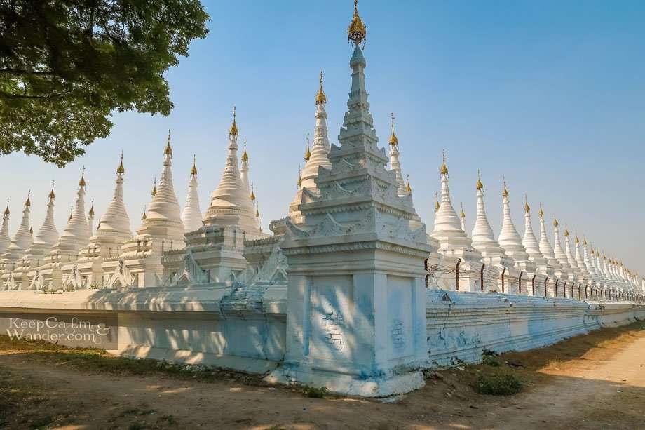 Sandamuni Pagoda and a Jungle of White Stupas Mandalay Myanmar