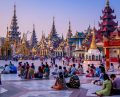 Shwedagon Pagoda Morning yangon Myanmar 13