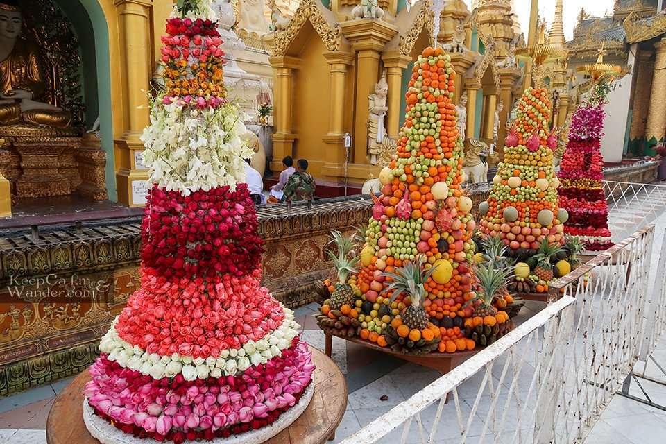 Shwedagon Pagoda in the Morning Cheap Hostel Yangon Hotel Myanmar