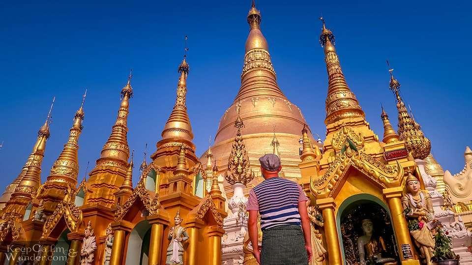 Golden Pagoda in Yangon, Myanmar.
