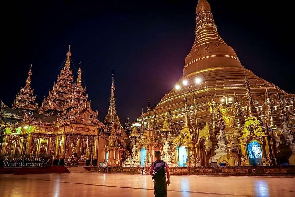 Golden Pagoda in Yangon Myanmar