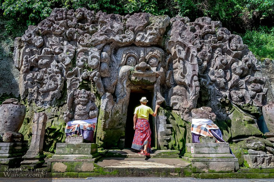 Elephant Cave Temple Monster stone statue