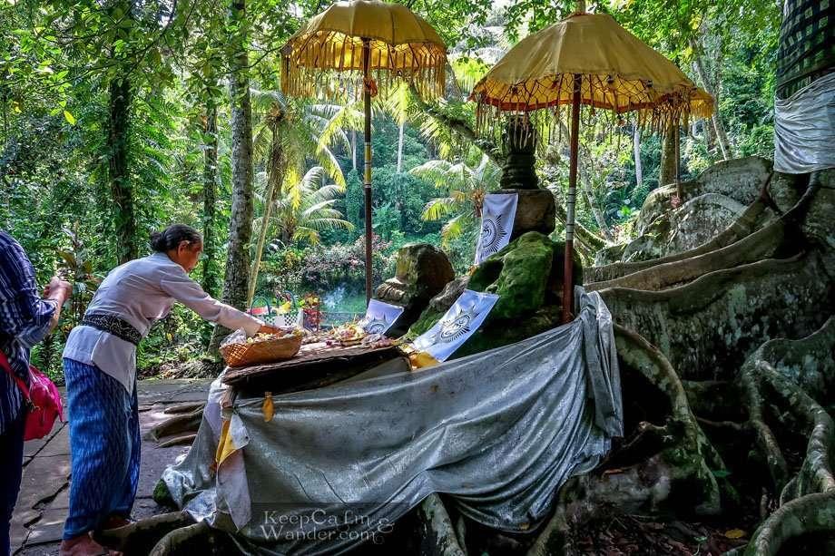 Hindu altar in Bali Hostel Hostel accommodation