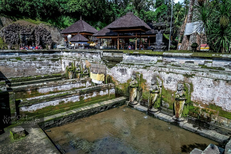 Elephant Cave Temple Bali Water fountain