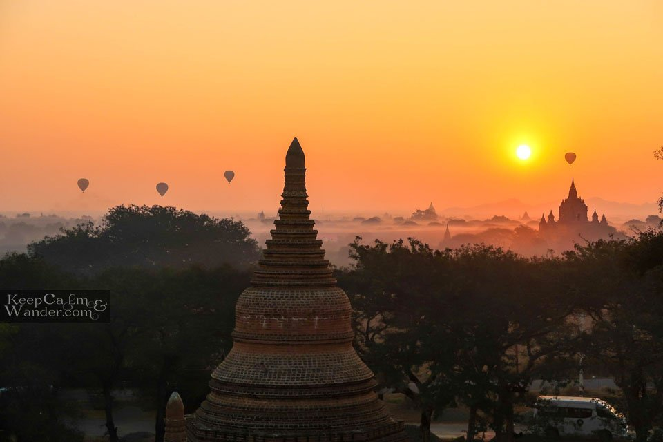 Tourist attractions in Bagan Myanmar