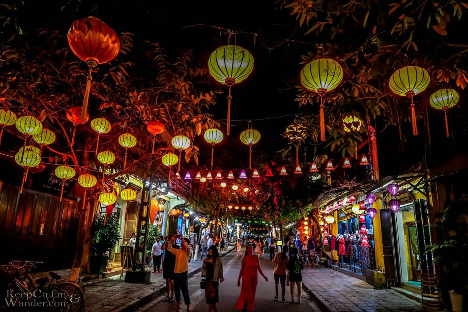 Hoi An at Night is a Scene in a Period Movie Vietnam