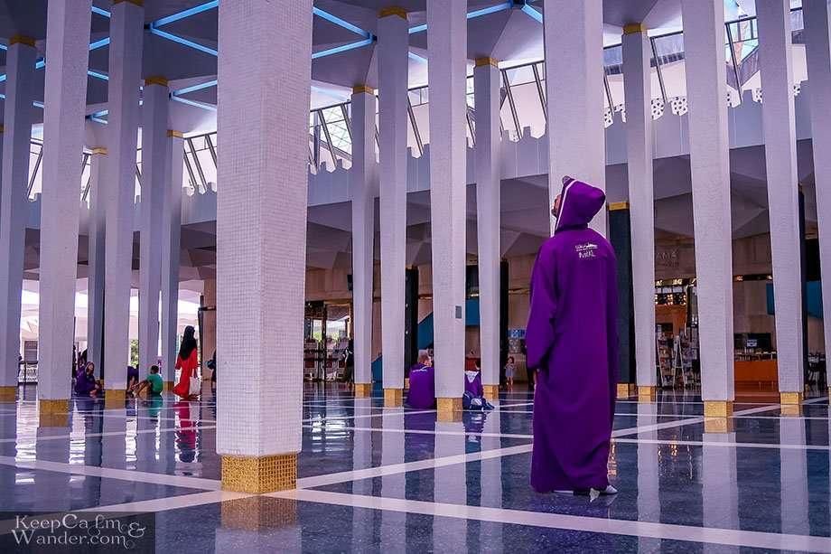 Inside Masjid Negara - Malaysia's National Mosque Kuala Lumpur