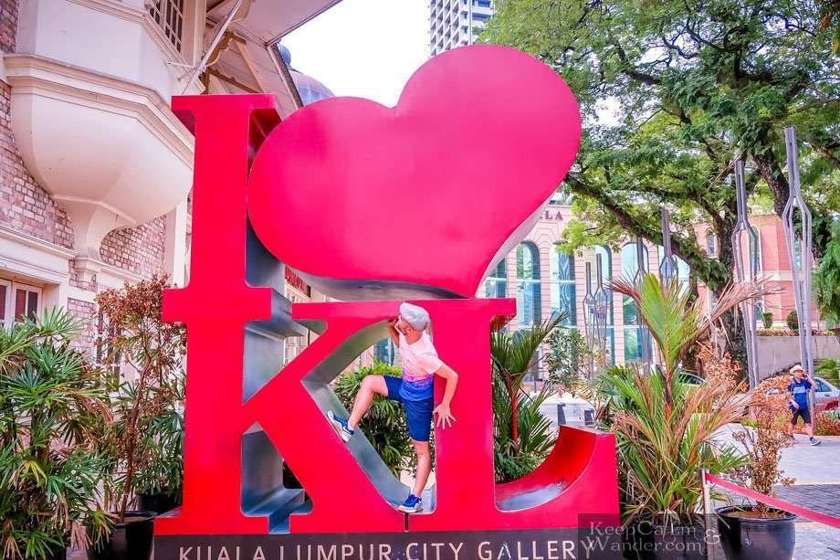 I love KL statue Independence Square KL