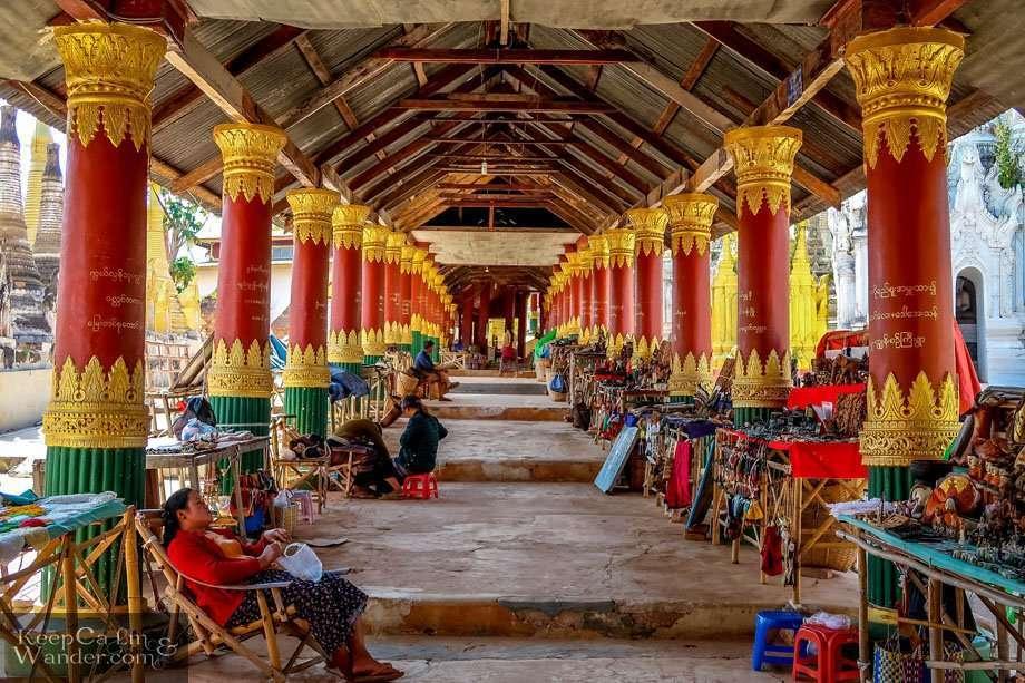 Shwe Indein Pagodas (Lake Inle, Myanmar).
