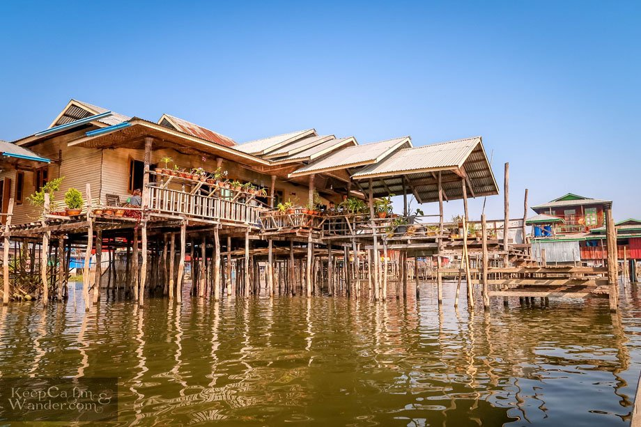 Maing Thauk Village and its Stilt Houses at Lake Inle Myanmar