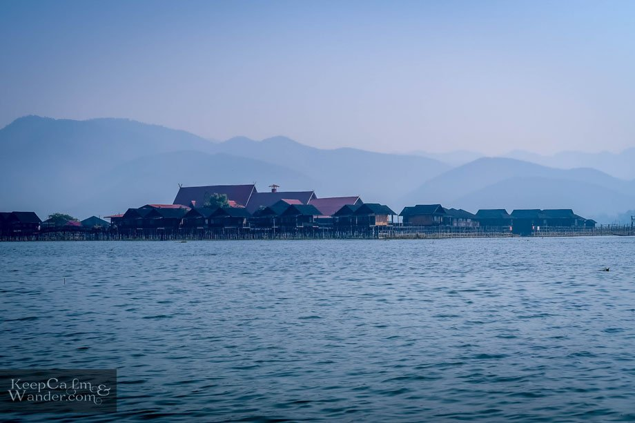 Floating houses in Nyaung Shwe (Myanmar).