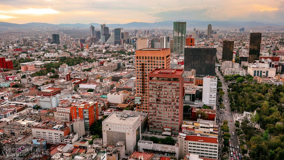 Skyscrapers in Mexico City