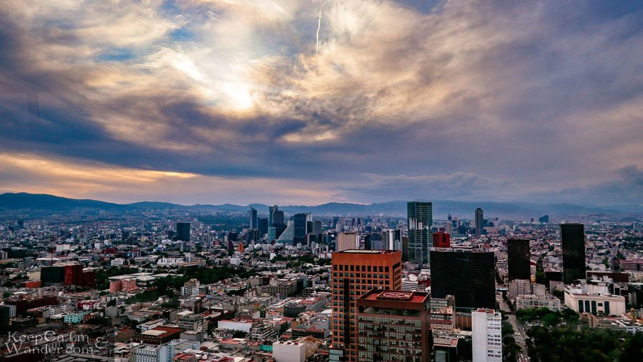 Sunset in Mexico City