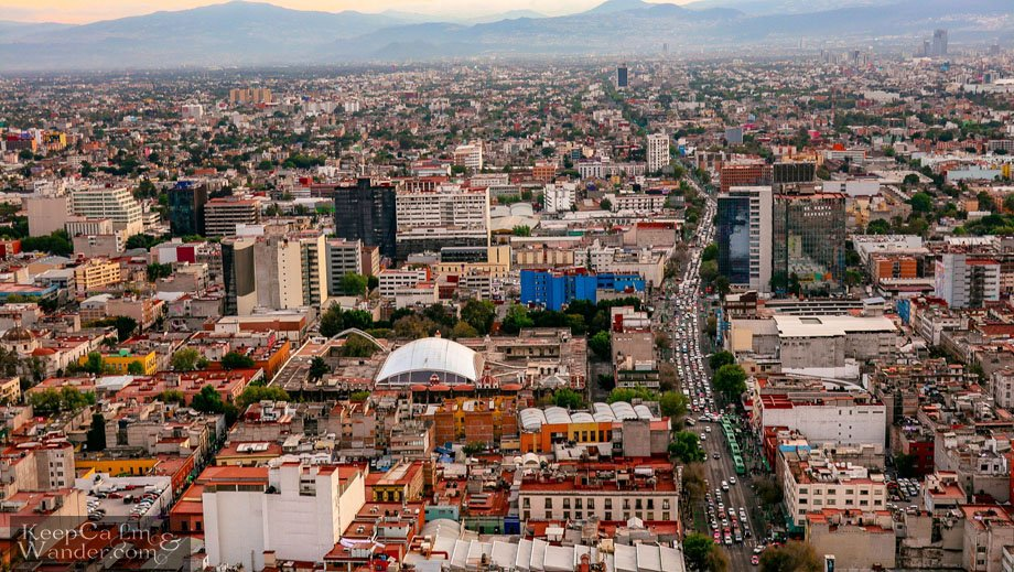 Mexico City Skyline from Torre Latinoamericana