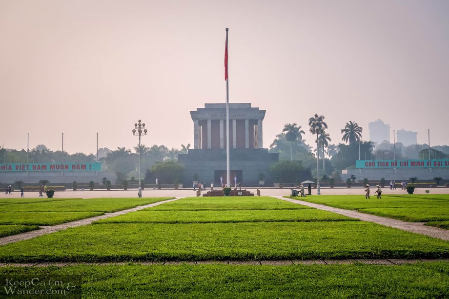 The Ho Chi Minh Mausoleum in Hanoi