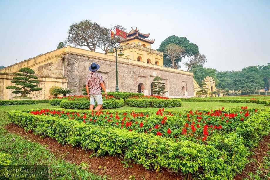 Tourist attractions in Hanoi (Vietnam).