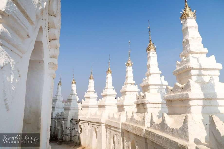 Hsinbyume Temple/Pagoda in Mingun (Mandalay).