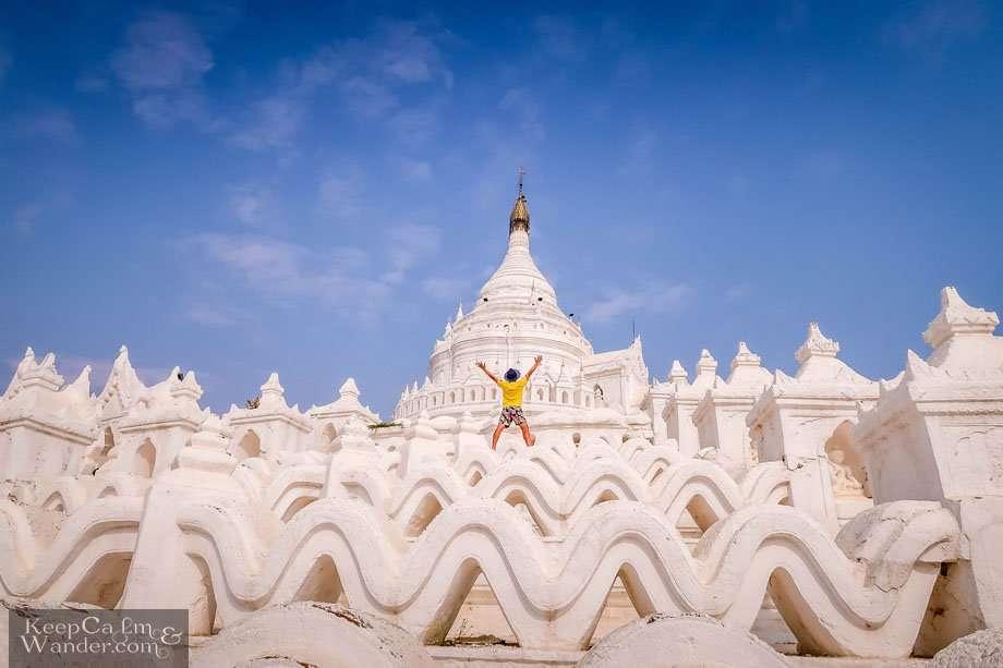 Mya Thein Dan White Pagoda - The Most Photogenic Pagoda in Mandalay