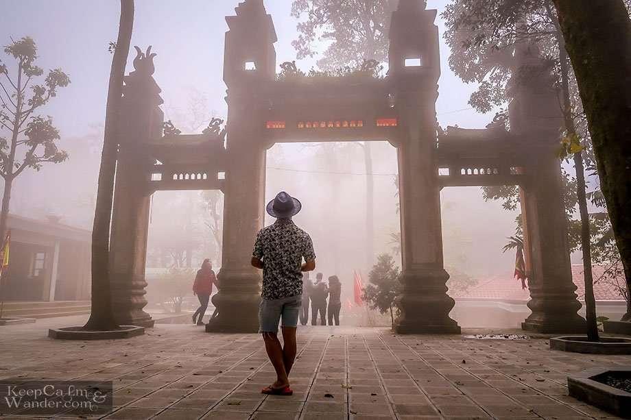 Foggy Mountain in Hanoi Vietnam