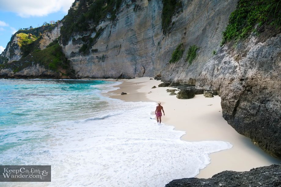 Diamond Beach on Nusa Penida in Bali