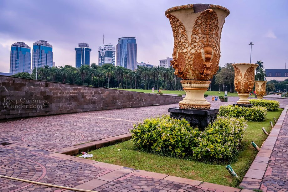 Jakarta National Monument and the City Views from the Tower Indonesia