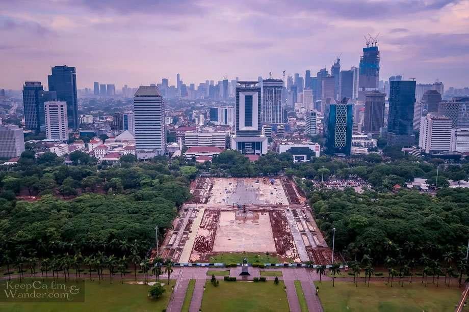 Jakarta city skyline from Monas tower