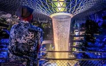 Jewel at Night Changi Airport Singapore 1