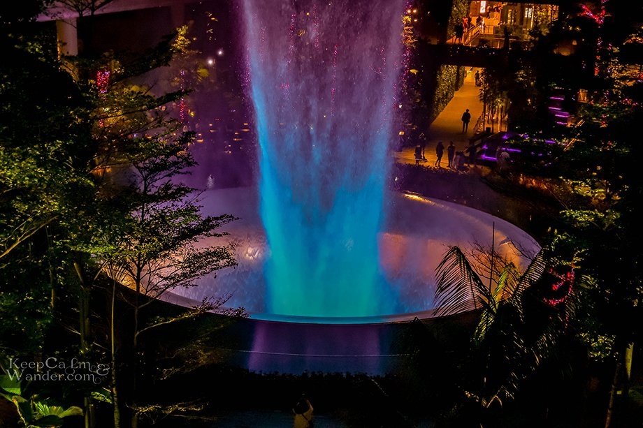 The Rain Vortex at the Jewel at Changi International Airport in Singapore is Mesmerizing