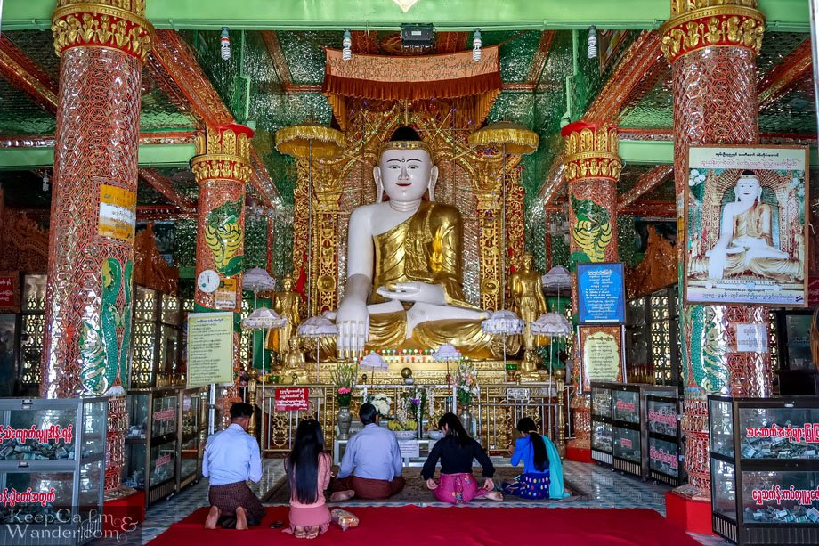 Soon U Pon Nya Shin Paya Pagoda and a Hundred More Pagodas on the Hills in Sagaing (Mandalay, Myanmar).