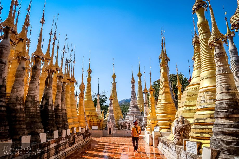 Myanmar Lake Inle Tour + Shwe InDein Pagodas for a Day