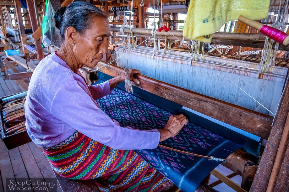 Myanmar Lake Inle Tour + Shwe InDein Pagodas for a Day Textile Factory