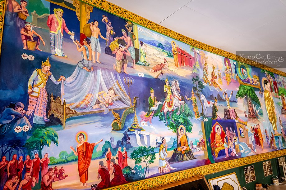 murals on the life of buddha